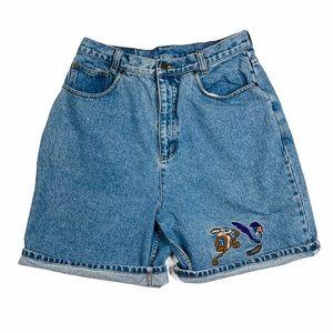 Vintage Looney Toons Shorts High Waist Mom 10